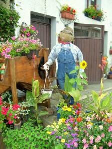 Suxy village fleuri