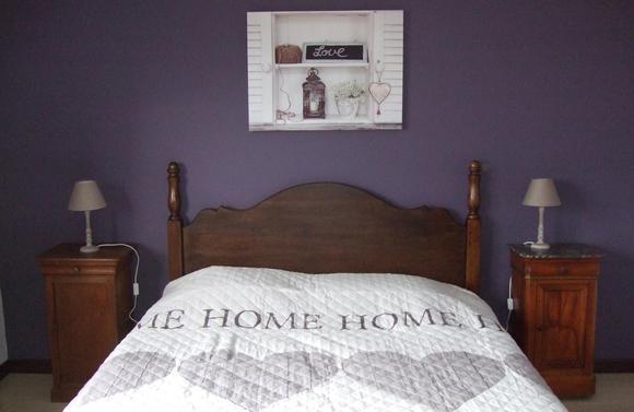 Gîte l'Envolée 1ere chambre lit double