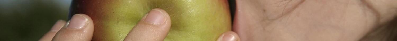 Croquer une pomme est un signe de santé
