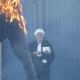 La Mouma brûlée après le réquisitoire cocasse
