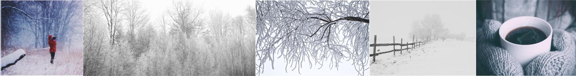 Paysages de neige à Chiny